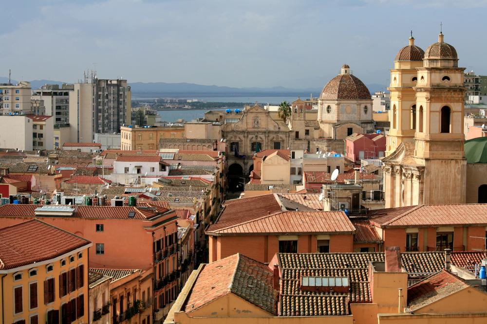 Vue du Bastion St Remy, Cagliari