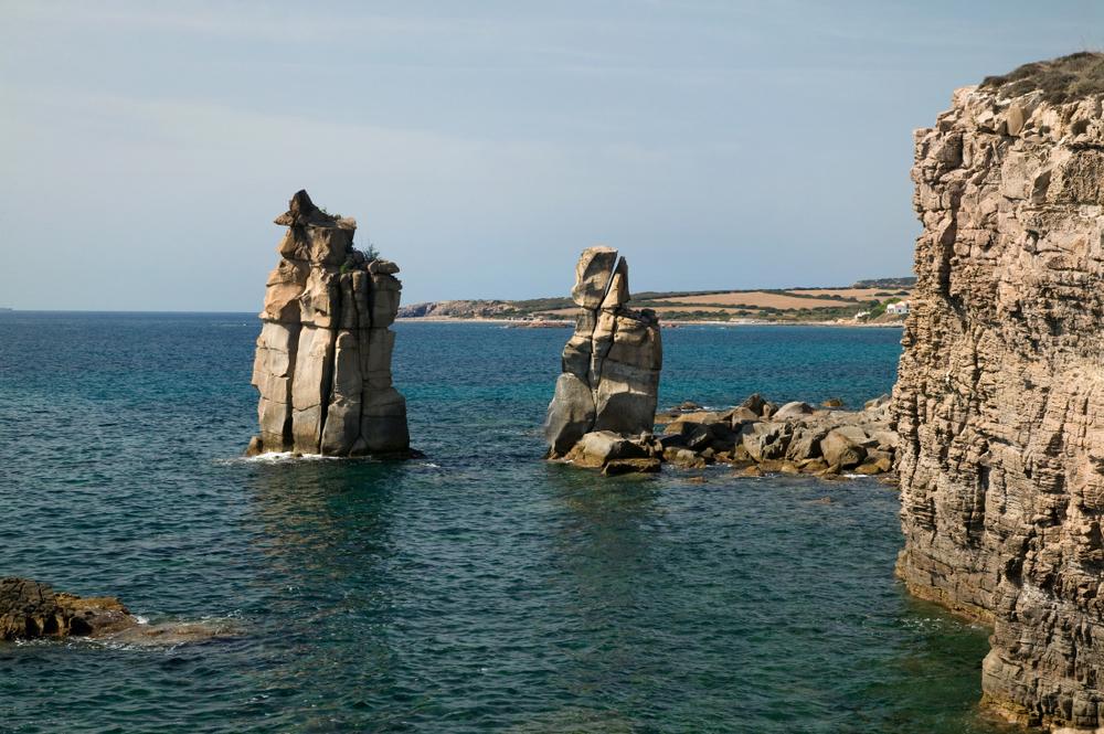'Punta delle Colonne' sur l'île San Pietro