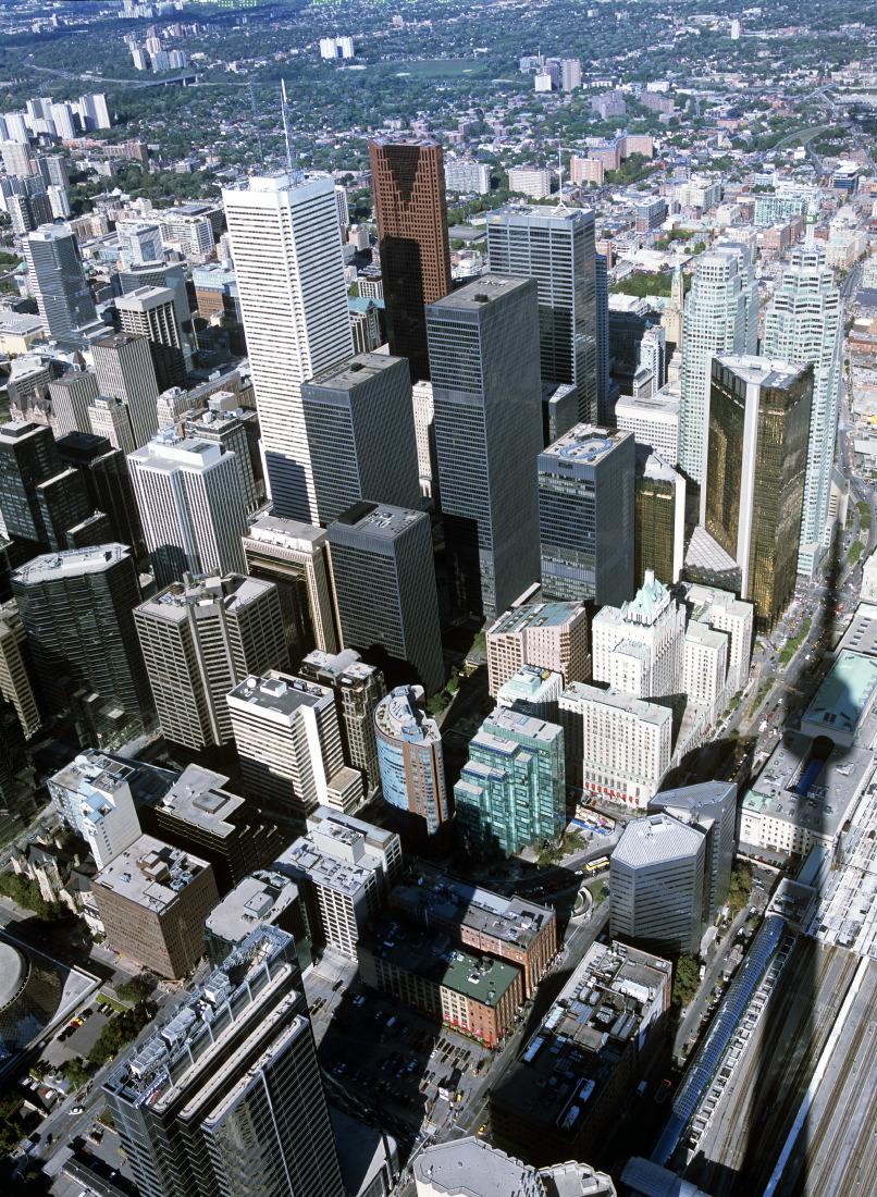 Toronto, du haut de la CN Tower