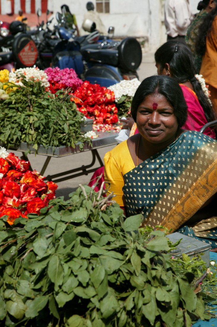Marchande devant Someshwara Temple, Bengalore