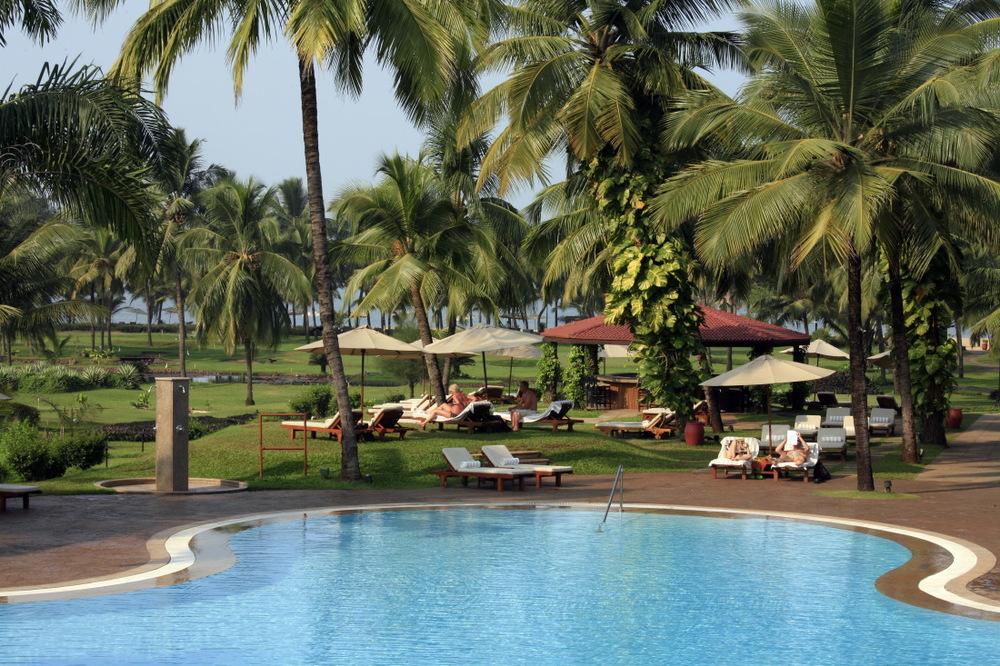Une des piscines du Leela Kempinski Goa, Mobor