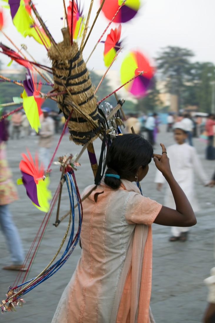La petite marchande de rue, Appolo Bunder, Mumbay