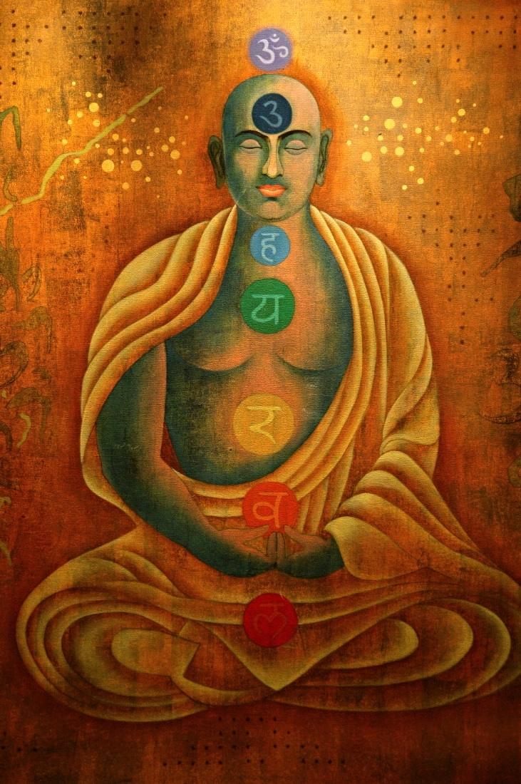 Tableau des chakras, médecine ayurvédique