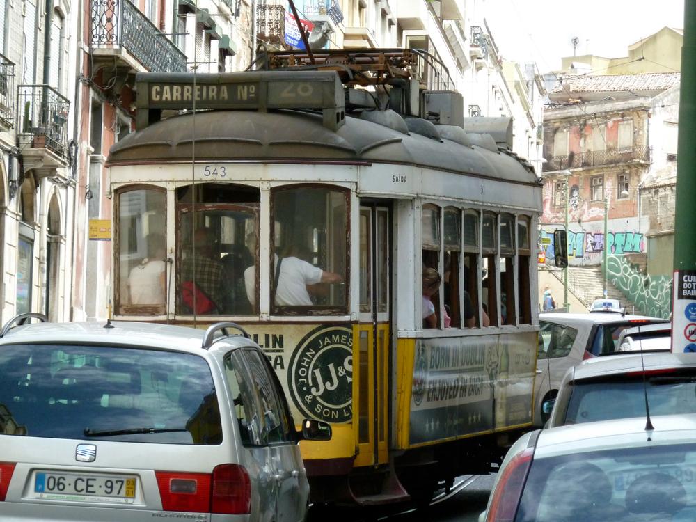 Les célèbres trams de Lisbonne