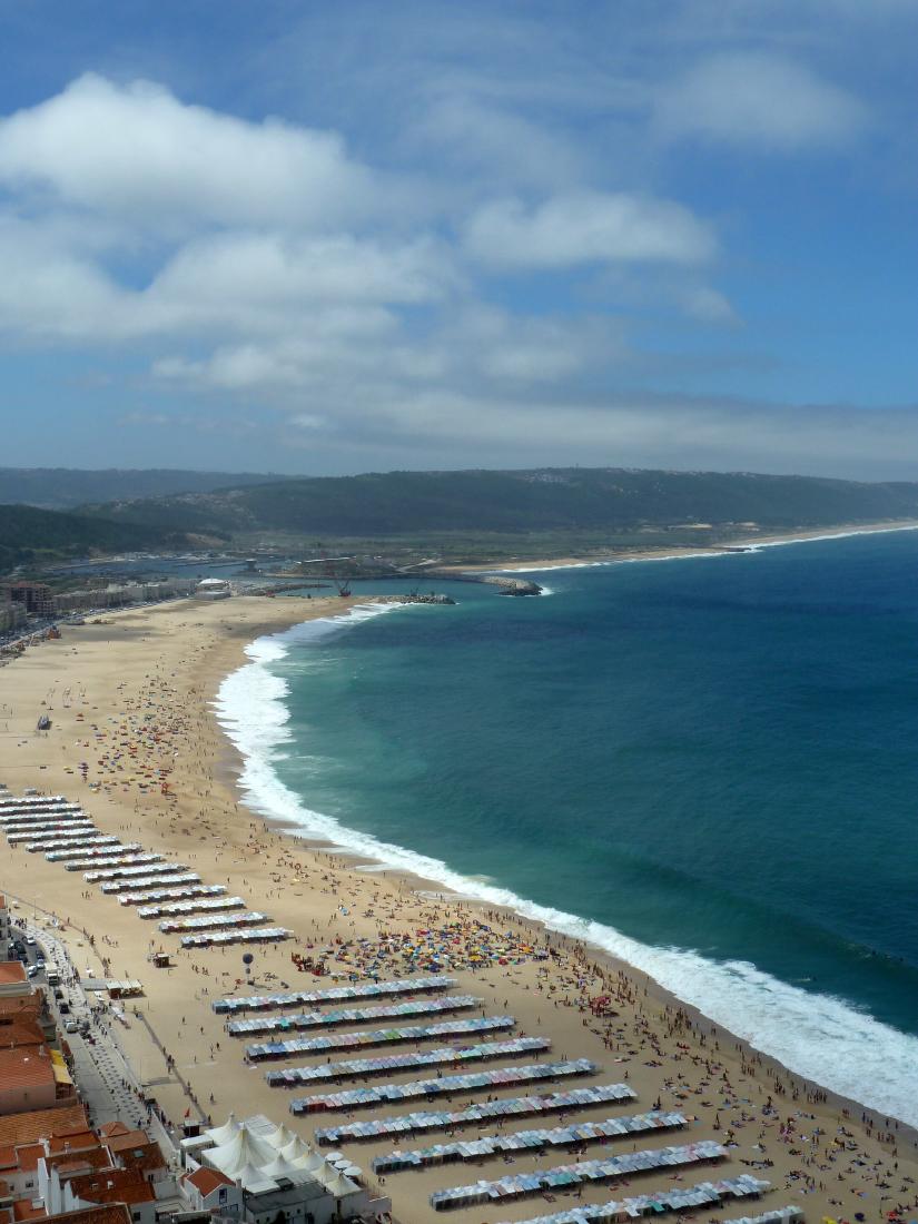 La plage de Nazaré