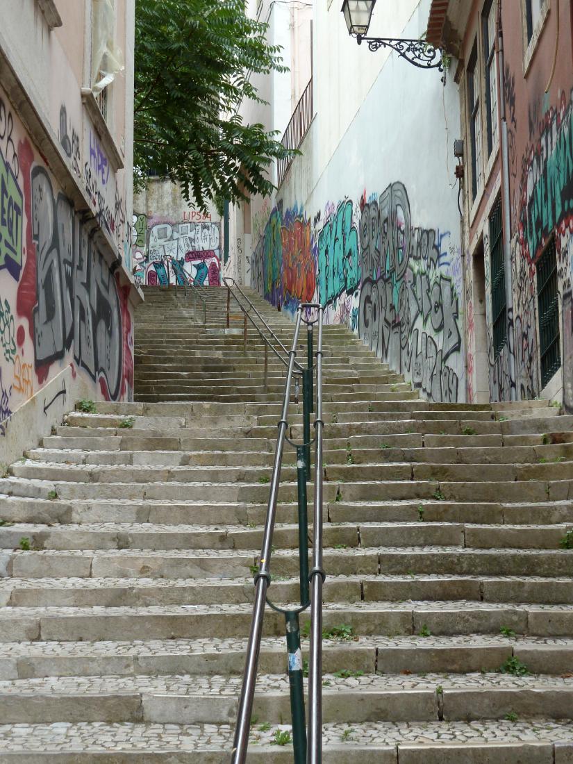 Ruelles tagées de Lisbonne