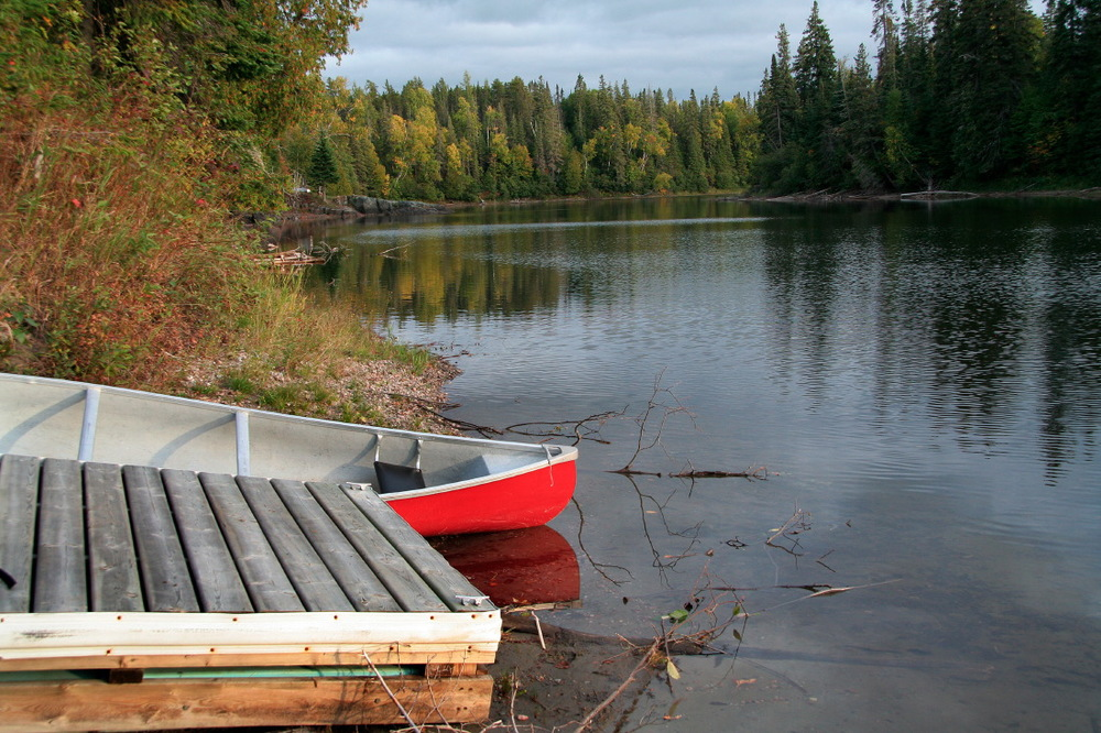 Michipicoten River, près du village de Old Michipicoten, Ontario
