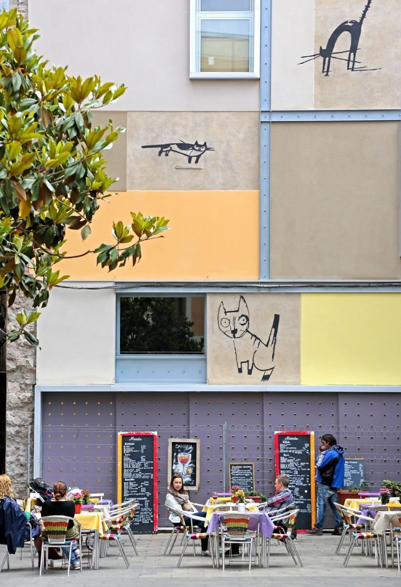 Terrasse du quartier Raval