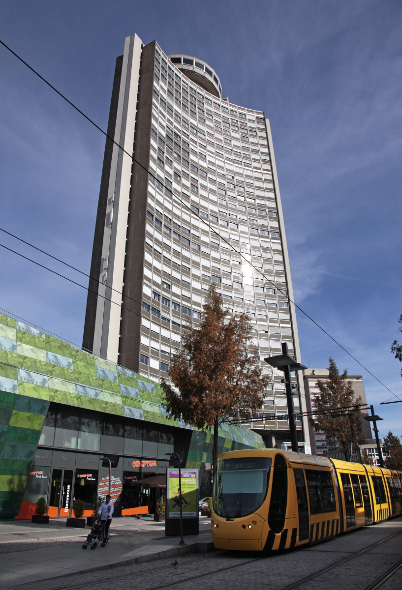 La Tour de l'Europe, le seul gratte-ciel mulhousien
