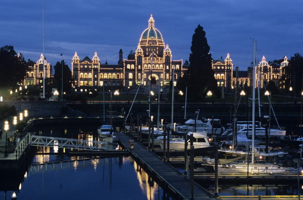 Le parlement et autres bâtiments officiels du front de mer à Victoria