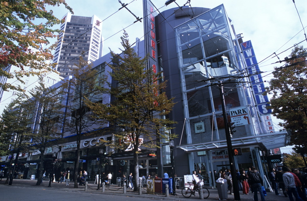Shopping sur Horney street, Vancouver Downtown