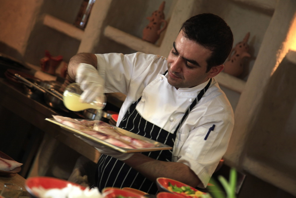 Cooking class, Spa Resort Six Senses, Zighy Bay