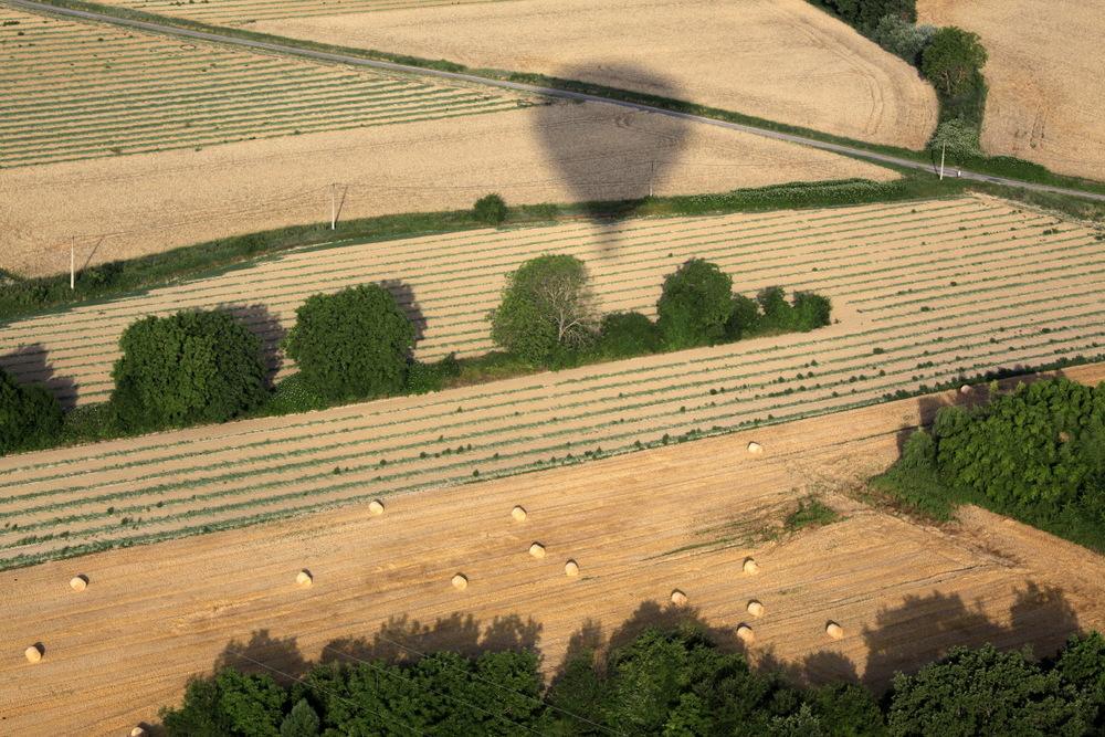 Survol en montgolfière de la région de Forcalquier