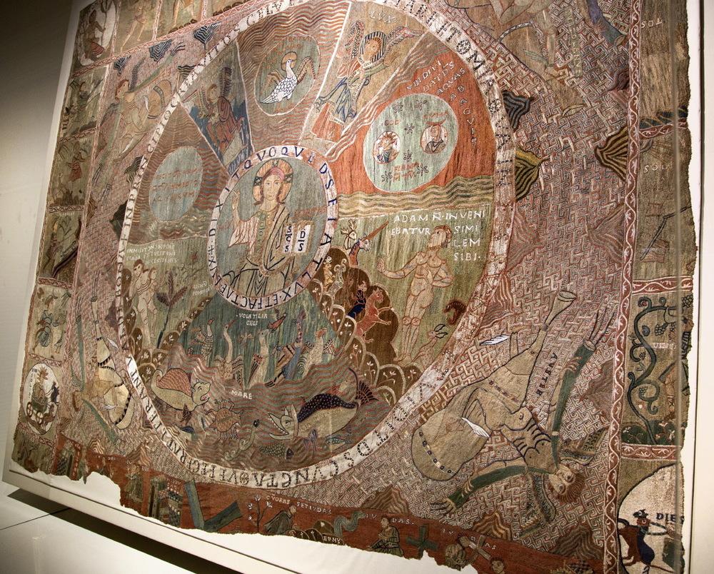 Joyau de la cathédrale de Gérone : tapisserie de la Création (XIe et début XIIe)