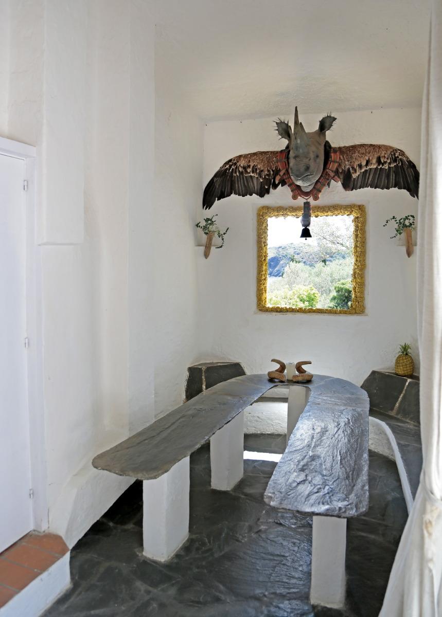 A l'intérieur de la Maison de Dali à Portlligat