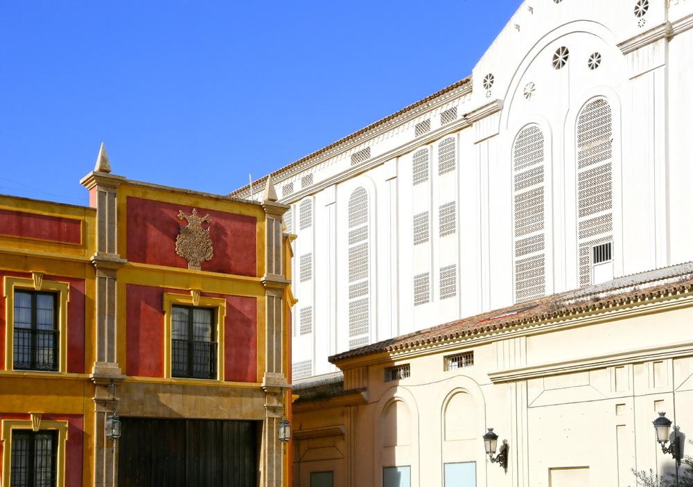 Architecture colorée de Malaga