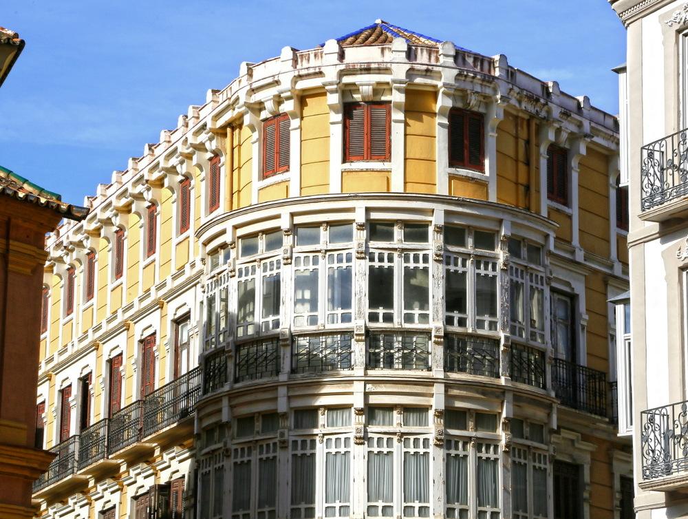 Divine architecture du vieux centre de Malaga