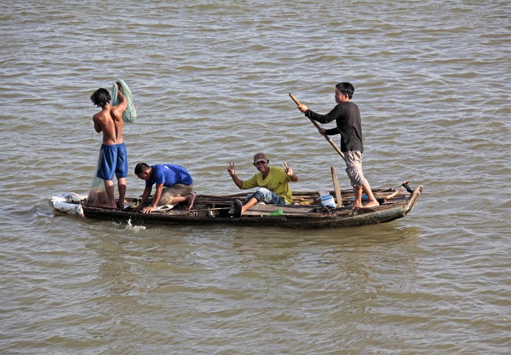 La joie des petits pêcheurs après de bonnes prises