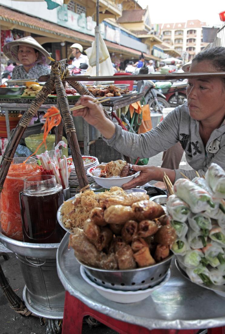 Sur le marché de Binh Tay, à Cholon, HCMV