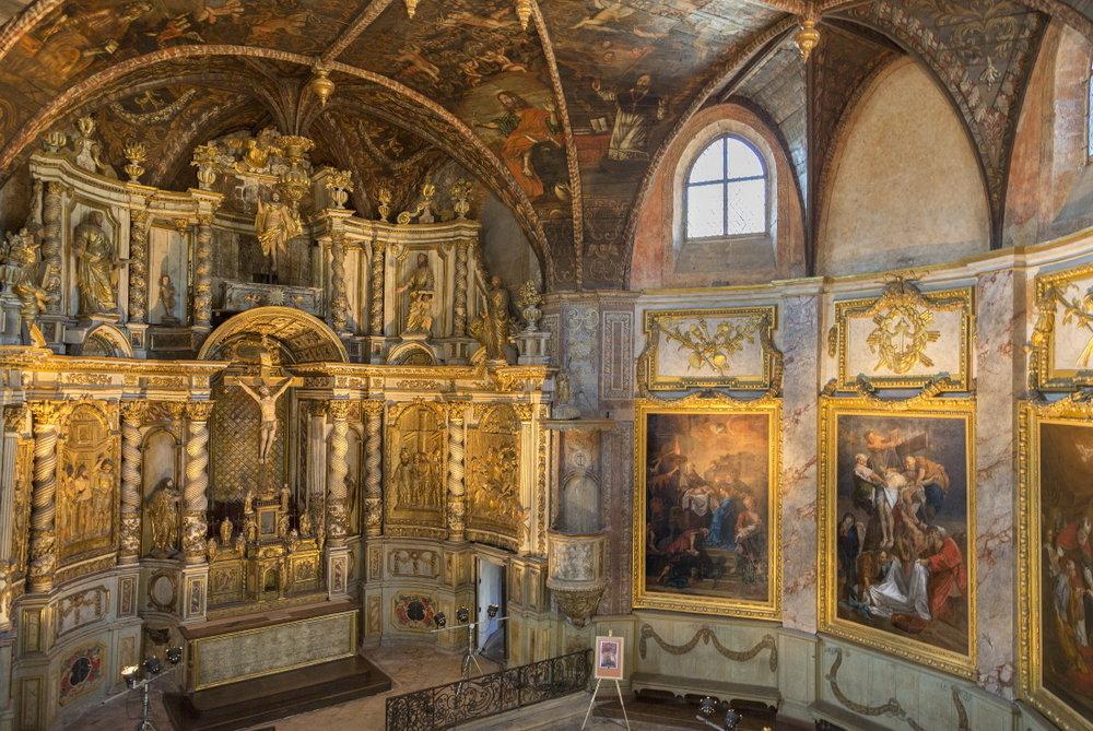 Splendide intérieur de la chapelle des Pénitents noirs