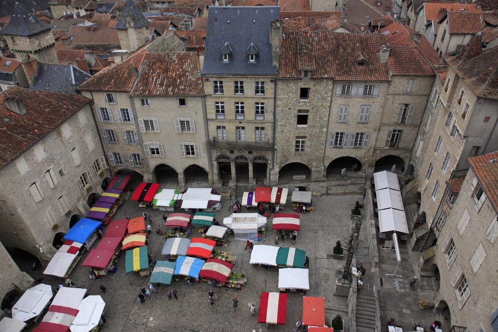 Place (Notre Dame) du Marché, Villefranche-de-Rouergue