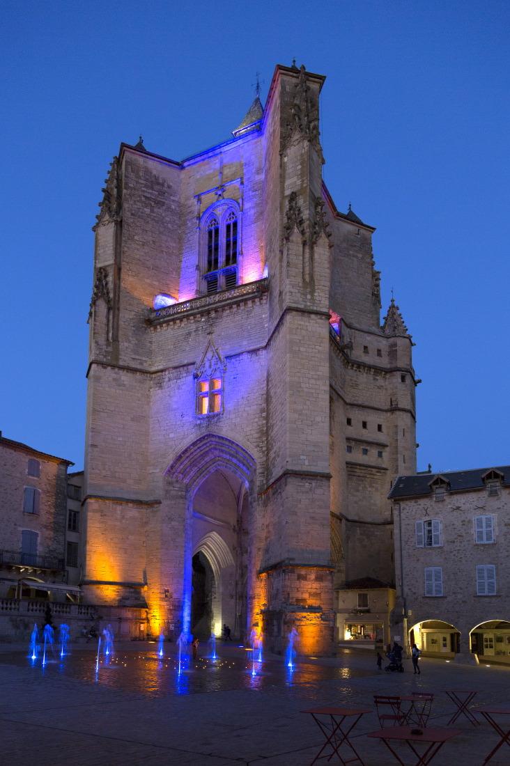 Illumination, place Notre Dame, Villefranche de Rouergue