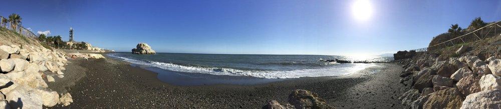 Playa Peñon Del Cuervo, tout au bout d'El Palo