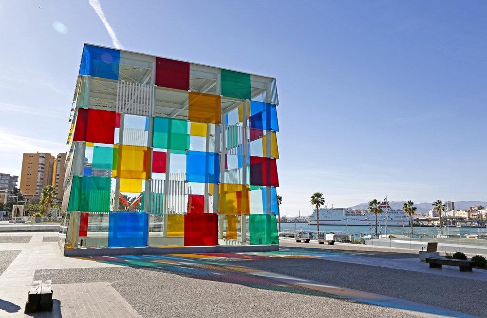 Centre Pompidou à Malaga, tout un jeu de lumières...