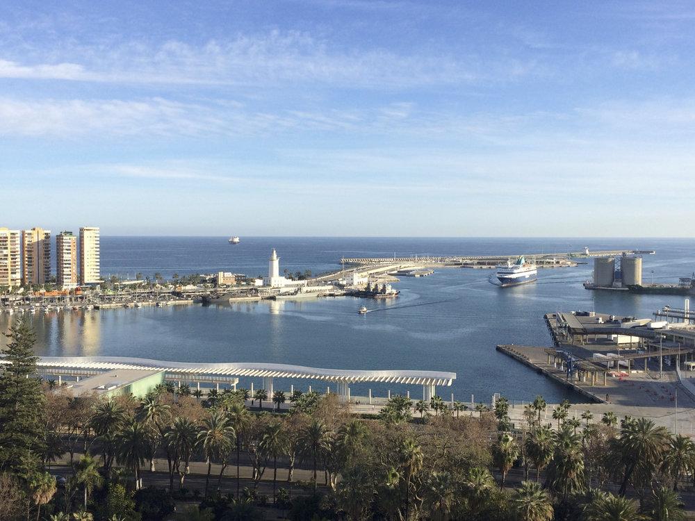 Vue de la terrasse du AC Hotel by Marriott Malaga Palacio