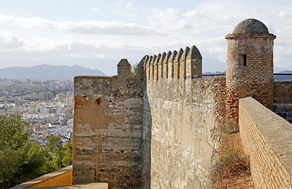 Les murailles de Gibralfaro
