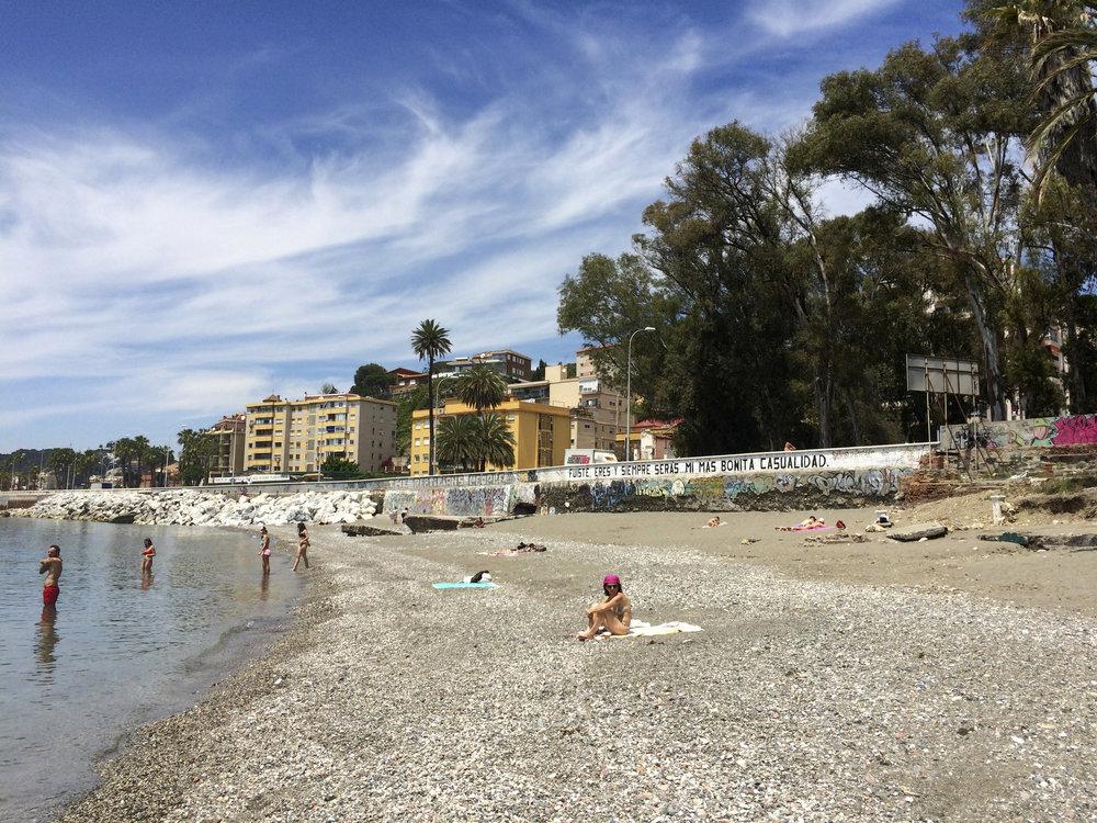 La minuscule plage de Banos del Carmen