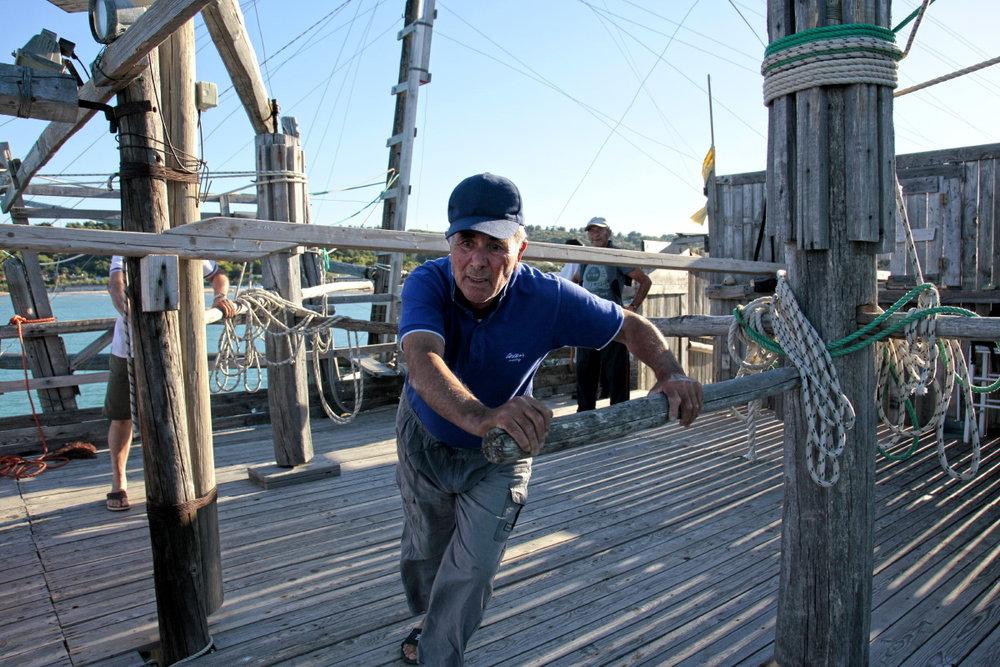 Lever des filets sur le Trabuccho : démonstration de pêche