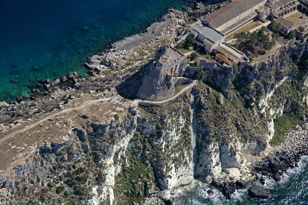 Vue aérienne de San Nicola, Tremiti