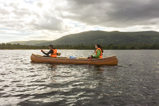 """We paddled around Loch Lomond for a week on it."""
