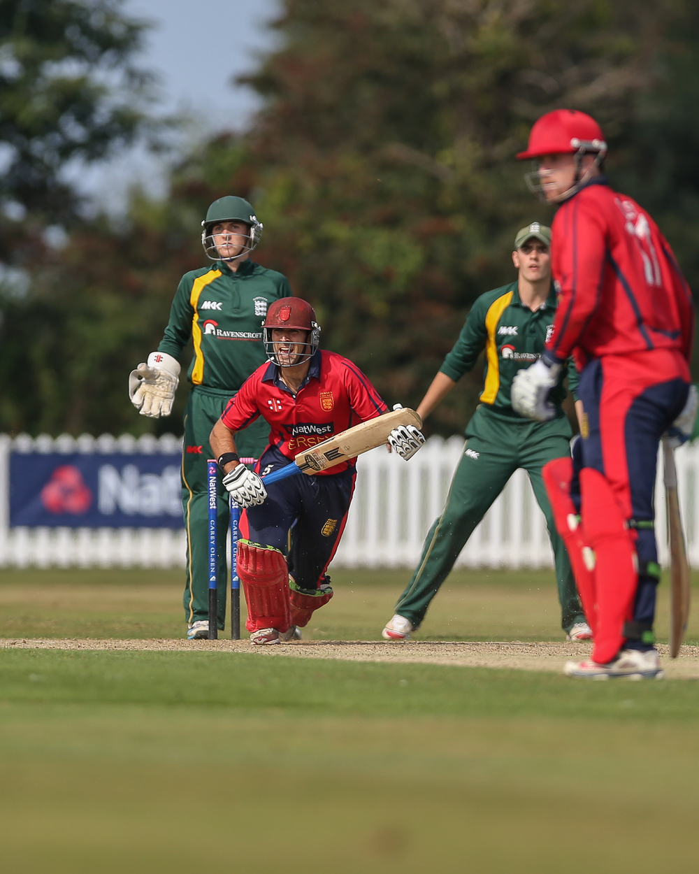 Jersey v Guernsey Inter-Insular 2014… Jersey win by 6 wkts at Jim Perchards beautiful 'Farmers Field' in Jersey...