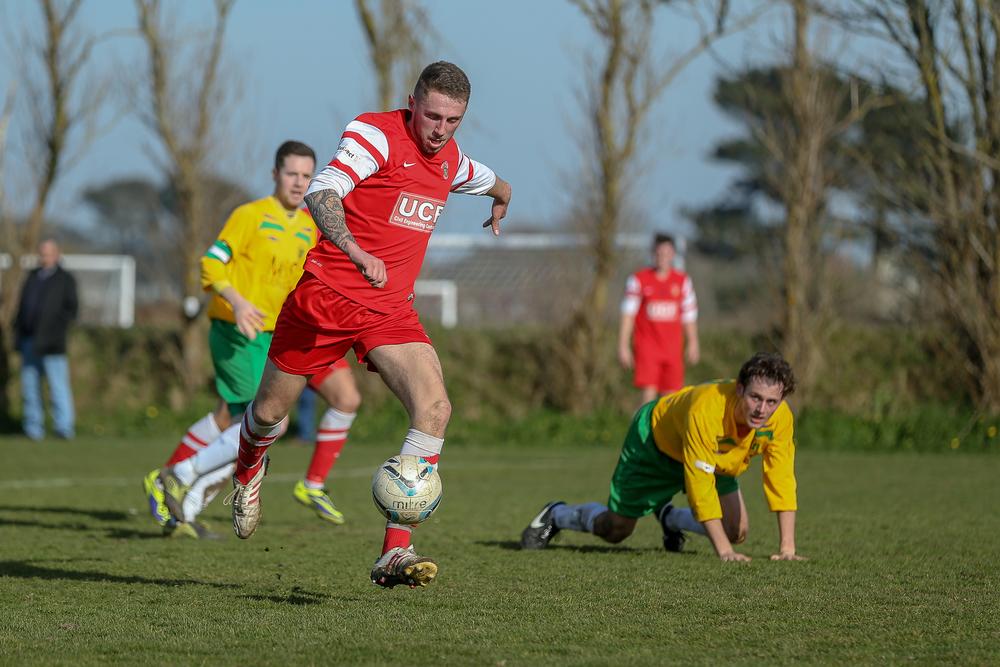 Sylvans FC v Vale Rec FC 7th March 2015... Sylvans win 3-0 at St Peters....