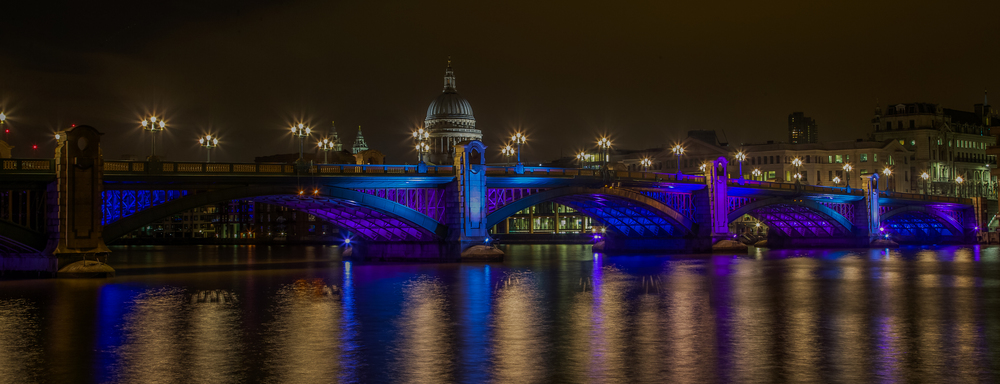 'Southwark Bridge'… Love shooting London at night, so many iconic sights to capture. Southwark Bridge in December.