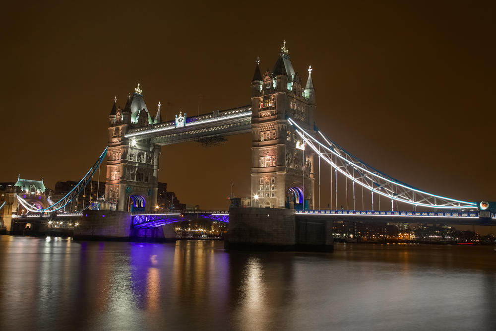 'Tower Bridge'…. London's iconic Tower Bridge on a December evening.