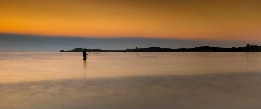 'Fishing at Dawn'... Pembroke Bay...