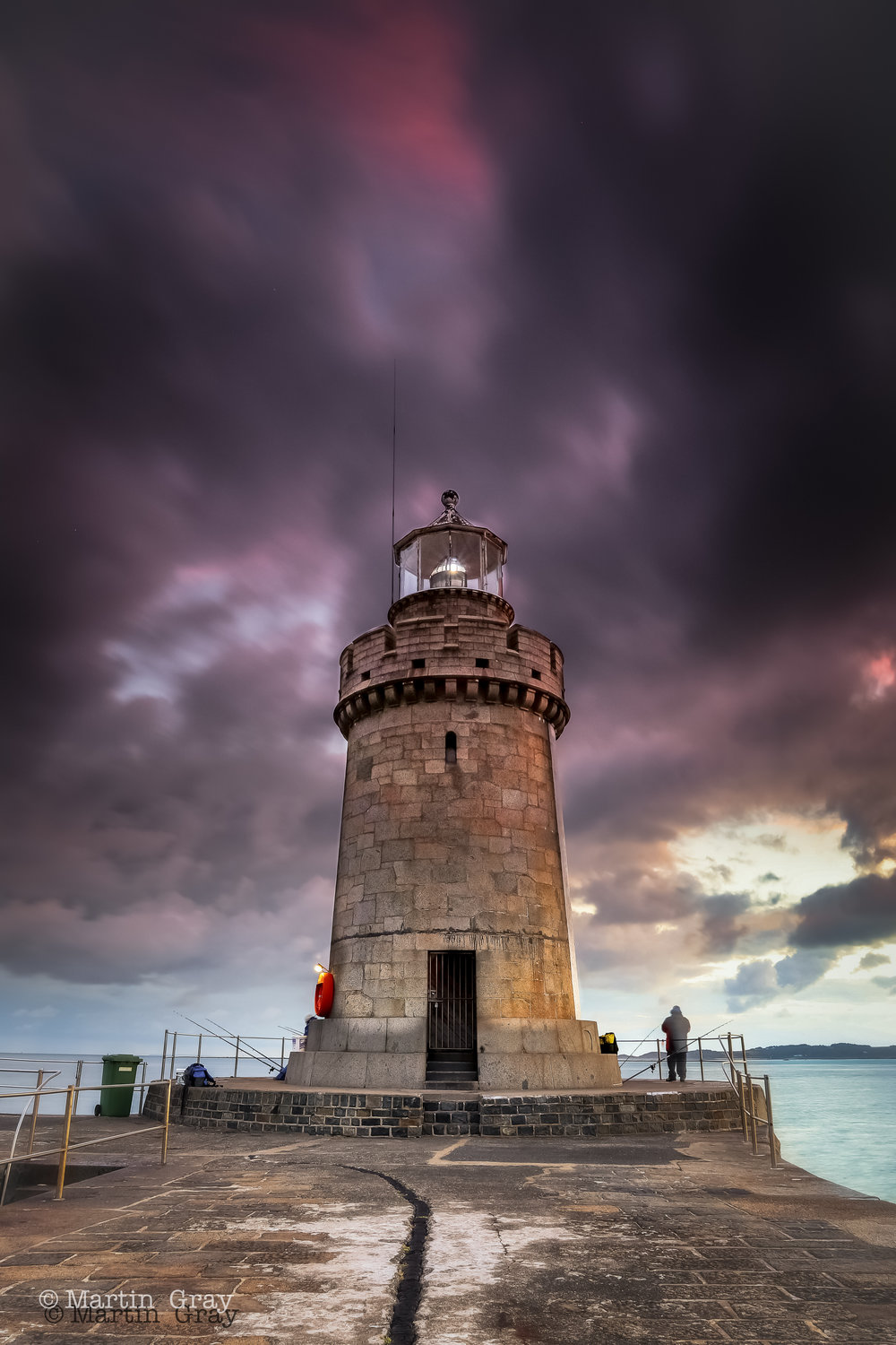 'Dark Skies'.... Moody skies over the Castle Lighthouse in St Peter Port...
