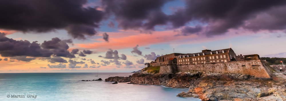Dark Sky over the Castle'... A November sky over Castle Cornet....