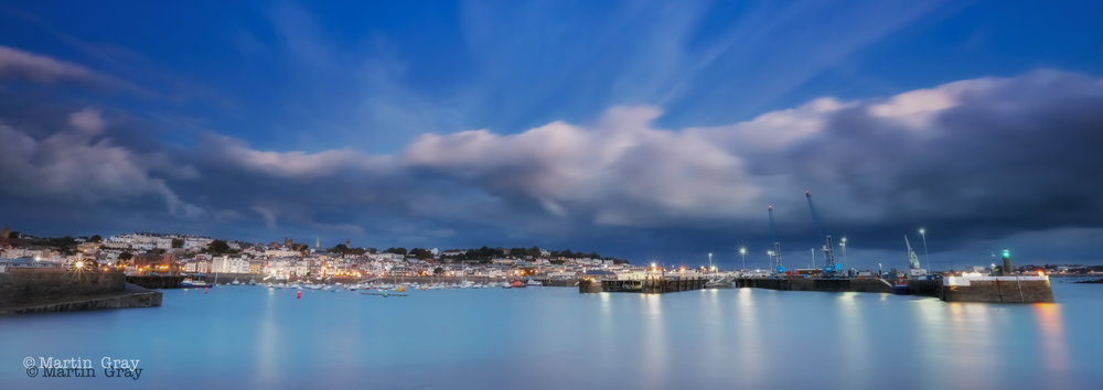 'Harbour Blues'... Early morning at St Peter Port Harbour...