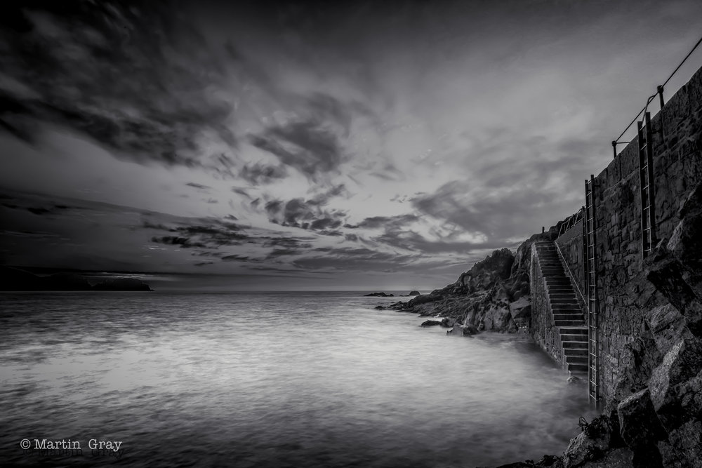 'The Harbour Steps'... Saints Bay Harbour at low water...