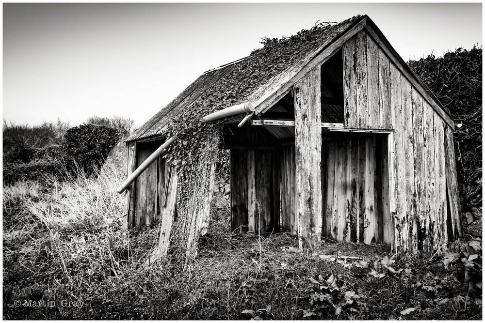 'The Broken Hut'... A field hut needing a little attention...