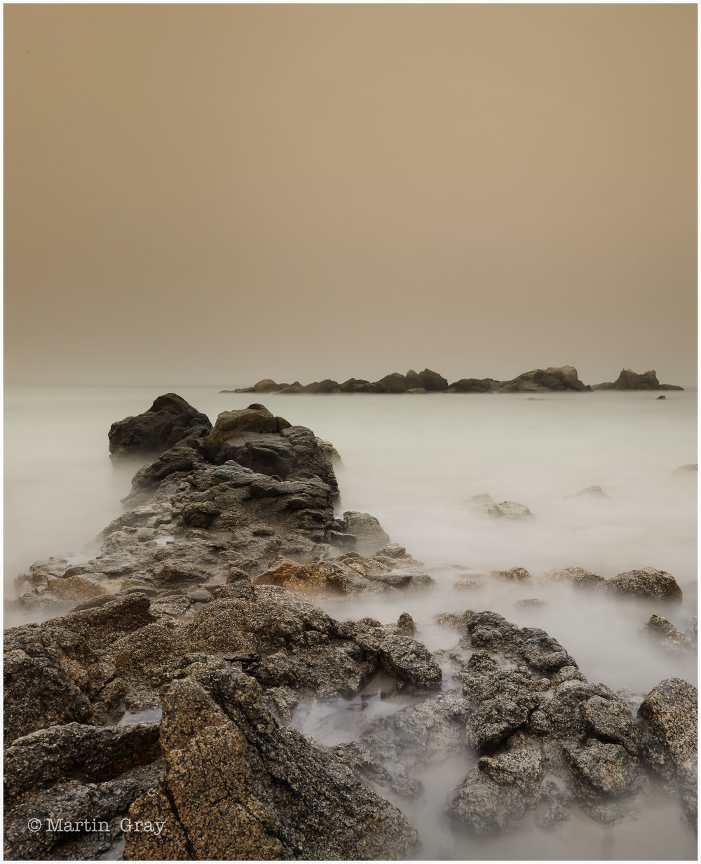 ' A Rocky Path'...    - A hazy day the Port Grat Bay...
