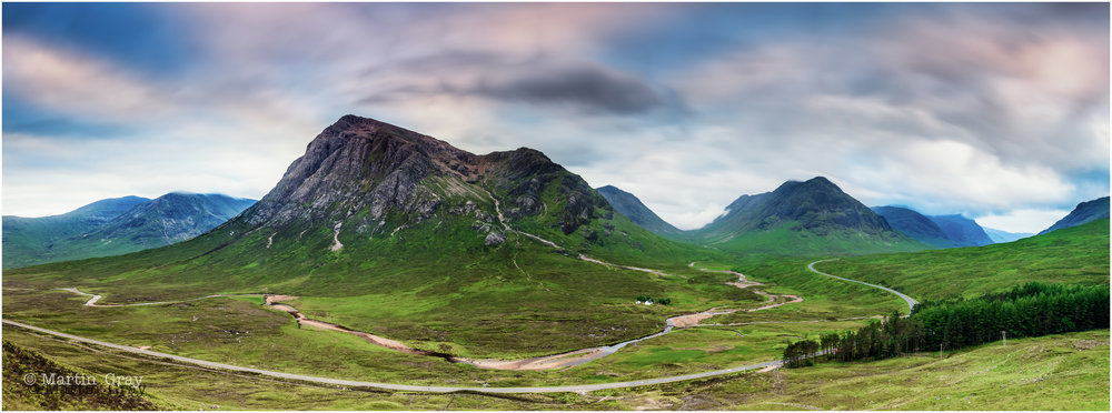 'The Glen'... Glencoe, Scotland... Panoramic