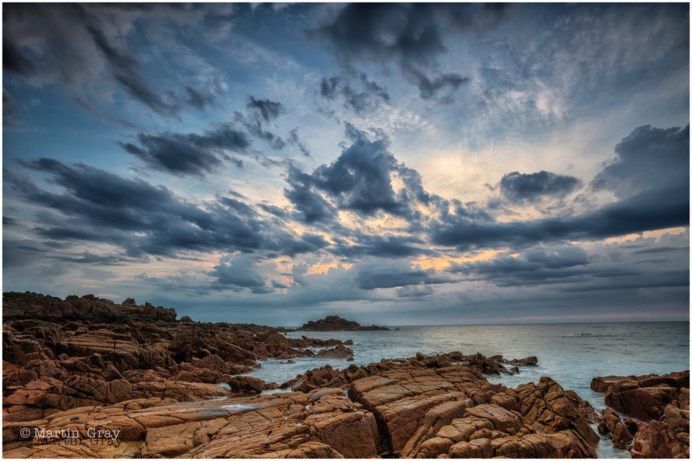 'After the Storm'... Grandes Rocque Bay after a humdinger of a storm...