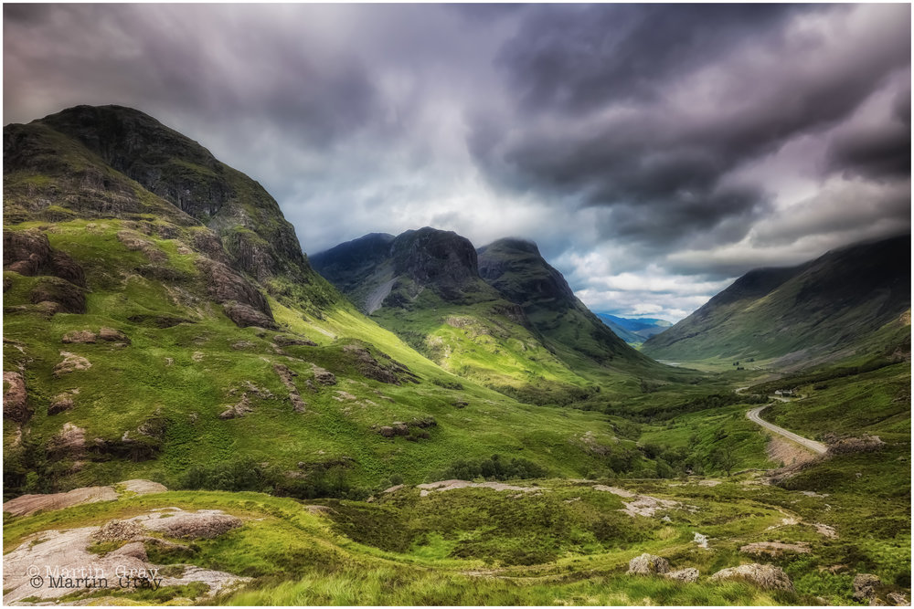 'The Glen'... The Three Sisters in Glencoe, The Scottish Highlands...