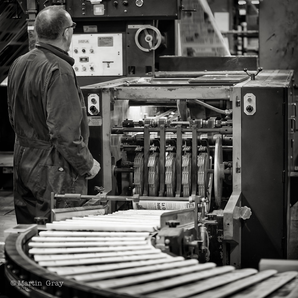 'Read all about it'... A visit to see the Guernsey Press being printed. Needed an Industrial Machinery shot!