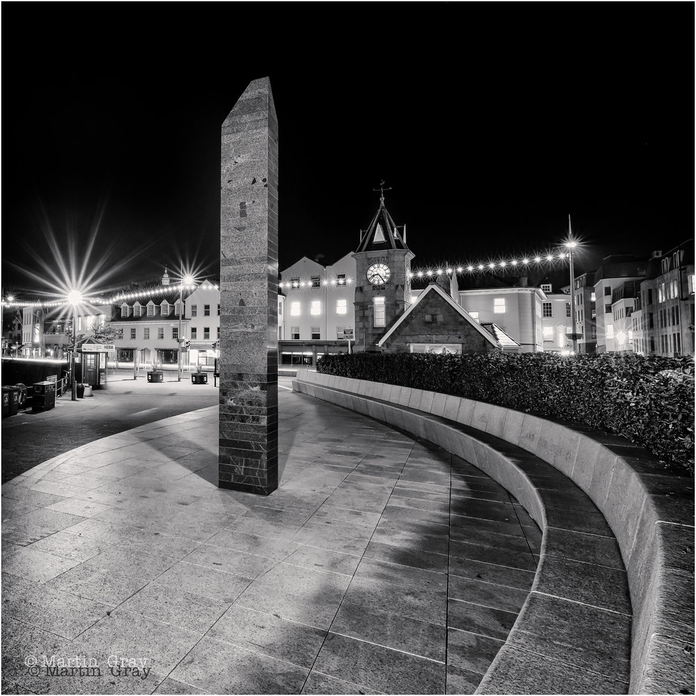 'Not a Soul'... Guernsey's Liberation Monument shot on an October evening...